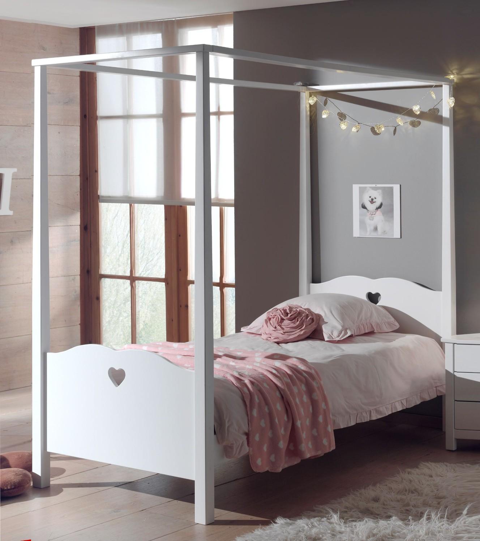 Full Size of Mädchenbetten Himmelbett Amori Mdchenbett Mit Herzen Liegeflche 90 200 Cm Wohnzimmer Mädchenbetten