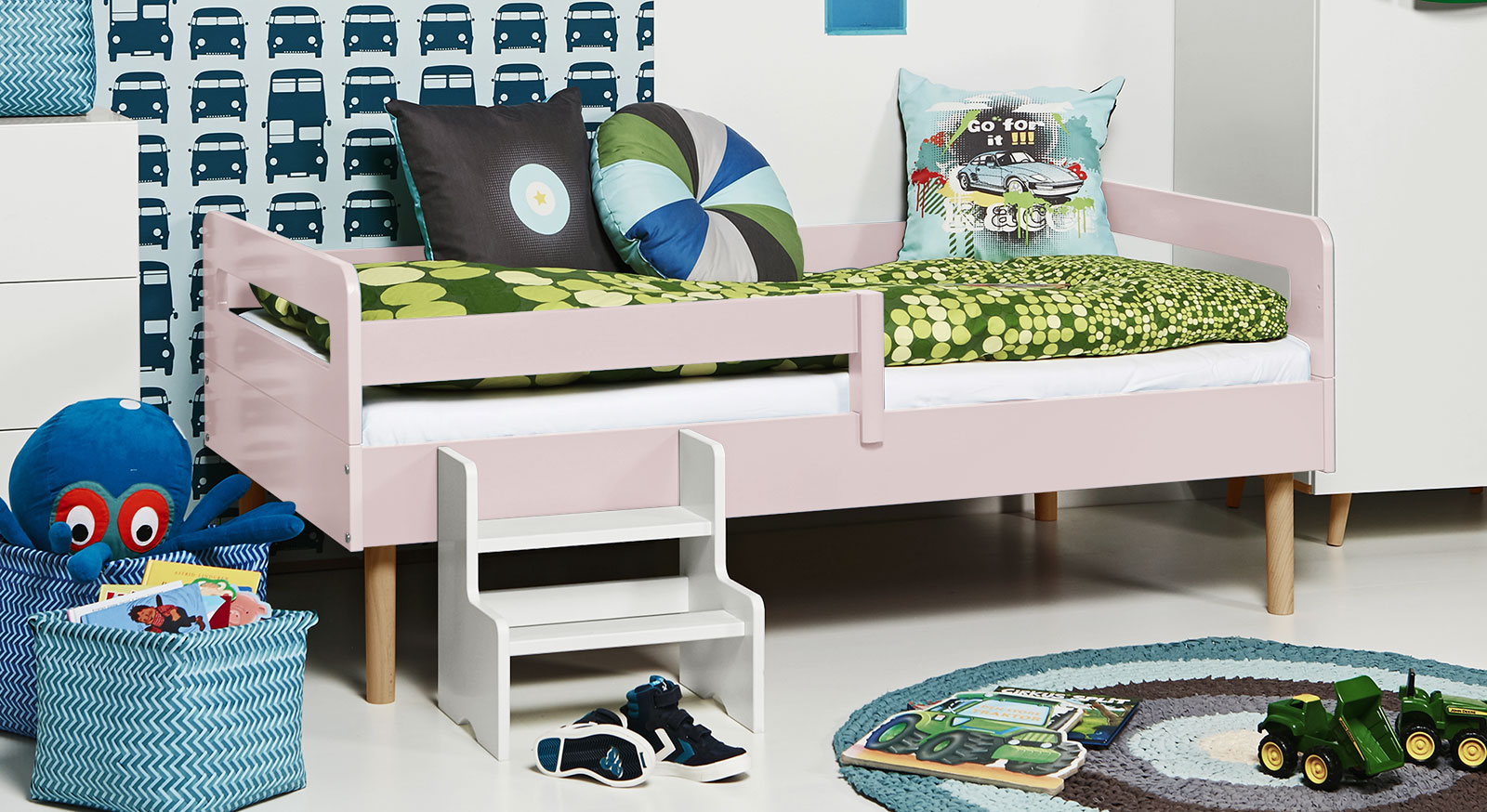 Full Size of Kinderbett Mit Rolllattenrost In 90x160 Cm Kids Town Retro Coole Betten T Shirt Sprüche T Shirt Wohnzimmer Coole Kinderbetten