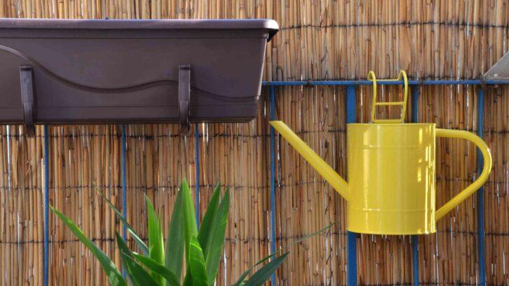 Paravent Bambus Balkon Sichtschutz Fr Den 10 Ideen Plus Tipps Zur Montage Garten Bett Wohnzimmer Paravent Bambus Balkon