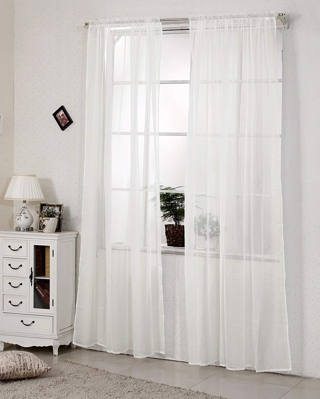 Full Size of 2er Set Gardinen Doppelpack Vorhnge Transparent Mit Kruselband Vorhänge Küche Wohnzimmer Schlafzimmer Wohnzimmer Vorhänge Schiene