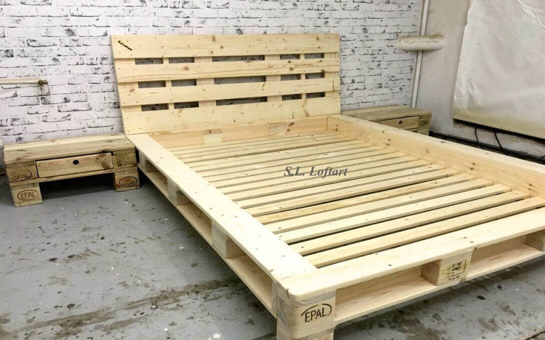 Large Size of Palettenbett Ikea Diy Bett Aus Paletten Mit Lattenrost Epic Küche Kosten Modulküche Betten 160x200 Sofa Schlaffunktion Bei Kaufen Miniküche Wohnzimmer Palettenbett Ikea