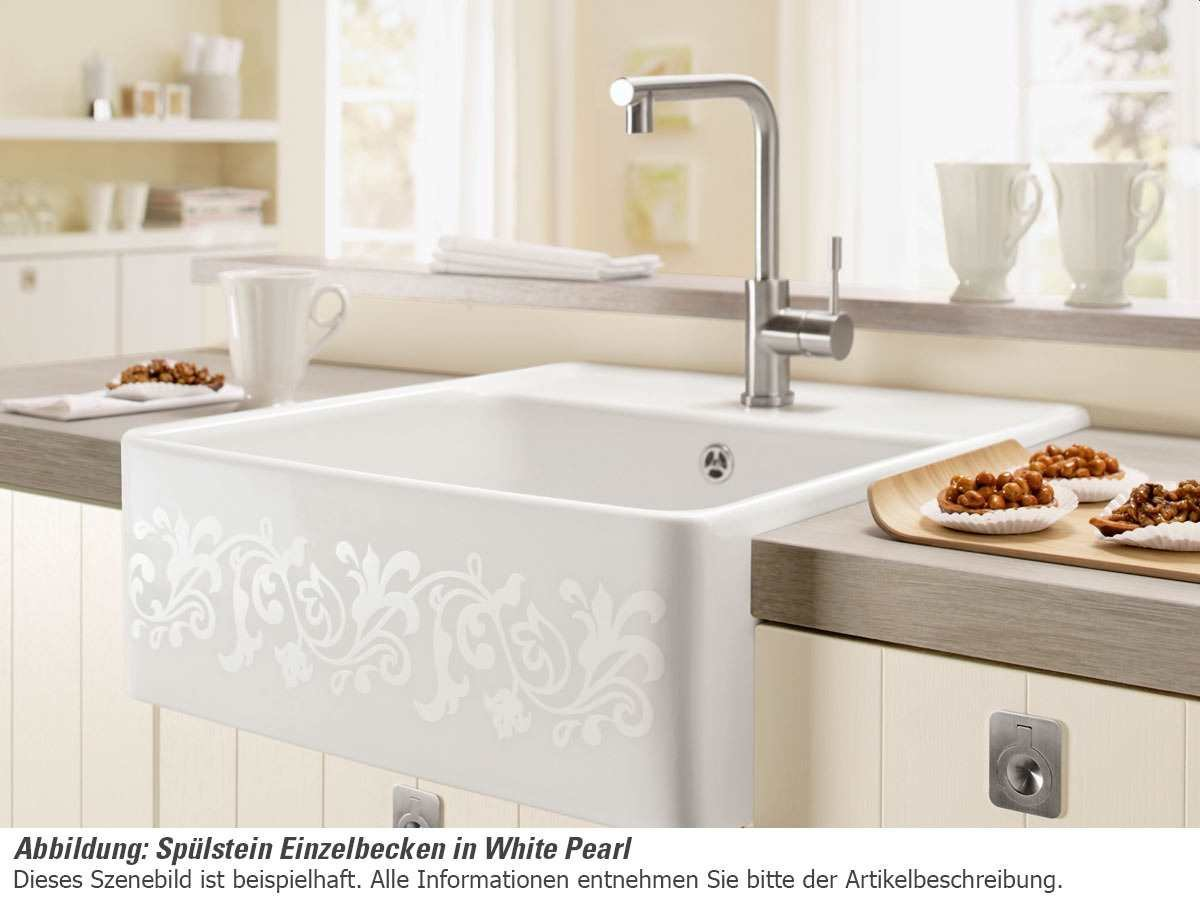Full Size of Villeroy Boch Splstein Einzelbecken White Pearl Keramik Sple Wohnzimmer Spülstein