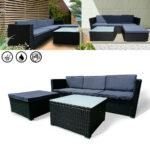 Couch Terrasse Polyrattan Balkonmbel Essgruppe Gartenset Sitzgruppe Wohnzimmer Couch Terrasse