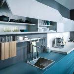 Küche Blau Wohnzimmer Küche Blau Blaue Kche Mit Grauer Wandfarbe Ideen Bilder Von Leicht Theke Jalousieschrank Einhebelmischer U Form Musterküche Miniküche Vinyl Holz Modern