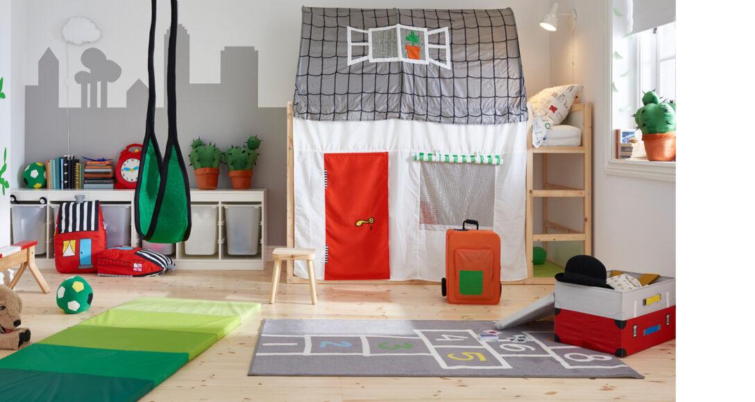 Large Size of Baldachin Kinderbett Diy Anleitung Haus Bauanleitung Obi Rausfallschutz Ikea Hacks Fr Das Kura Im Kinderzimmer Wohnzimmer Kinderbett Diy