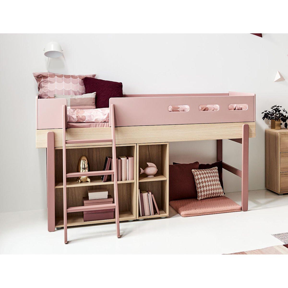 Full Size of Halbhohes Hochbett Flexa Popsicle Bett 90x200 Cherry 80 24302 33 900 Wohnzimmer Halbhohes Hochbett