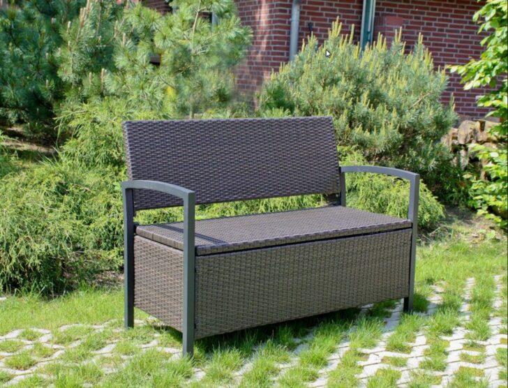 Medium Size of Gartenbank Truhenbank Ferrara Aluminium Und Polygeflecht Coffee Relaxsessel Garten Aldi Wohnzimmer Aldi Gartenbank