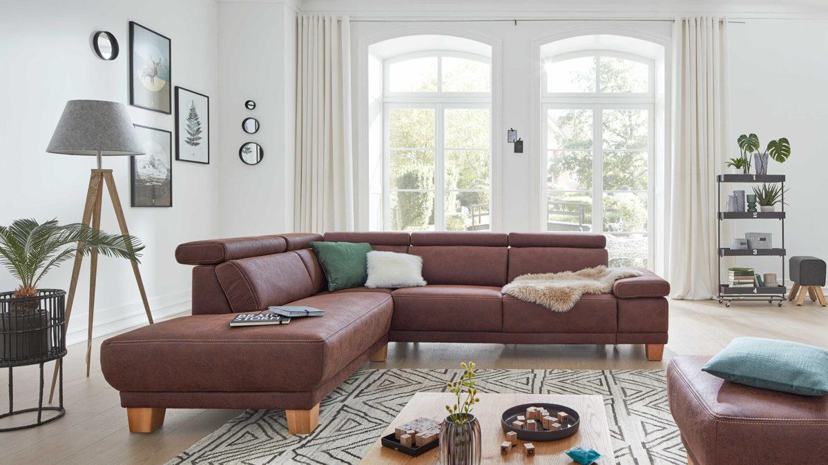 Full Size of Großes Ecksofa Interliving Sofa Serie 4252 Eckkombination Bild Wohnzimmer Regal Bezug Mit Ottomane Bett Garten Wohnzimmer Großes Ecksofa