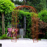 Pavillon Eisen Barcelona 4 Eckig Fein Geschnittener Garten Wohnzimmer Pavillon Eisen