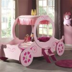 Mädchenbetten Wohnzimmer Kutschenbett Royal Princess Kinderbett Mdchenbett Lattenrost 90