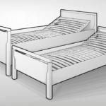 Seniorenbett 90x200 Bett Mit Lattenrost Weißes Und Matratze Kiefer Schubladen Weiß Bettkasten Betten Wohnzimmer Seniorenbett 90x200