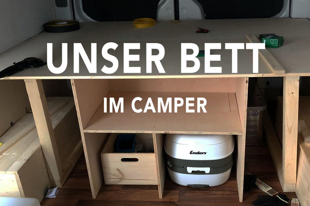 Large Size of Ausziehbett Camper Vom Crafter Zum Abenteuermobil Ein Bett Und Stauraum Fr Das Mit Wohnzimmer Ausziehbett Camper