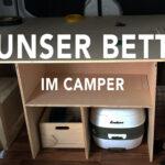 Ausziehbett Camper Vom Crafter Zum Abenteuermobil Ein Bett Und Stauraum Fr Das Mit Wohnzimmer Ausziehbett Camper