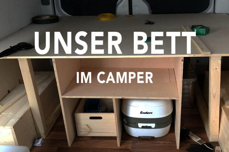 Medium Size of Ausziehbett Camper Vom Crafter Zum Abenteuermobil Ein Bett Und Stauraum Fr Das Mit Wohnzimmer Ausziehbett Camper