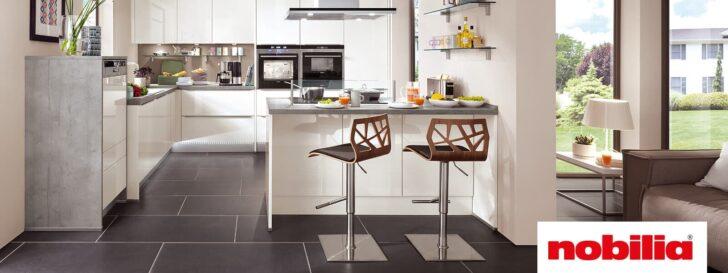 Medium Size of Nobilia Magnolia Luhochglanz Trifft Auf Gradliniges Design Einbauküche Küche Wohnzimmer Nobilia Magnolia