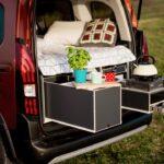 Ausziehbett Camper Campingboxen Praktische Bersicht Von Ausbau Modulen Bett Mit Wohnzimmer Ausziehbett Camper