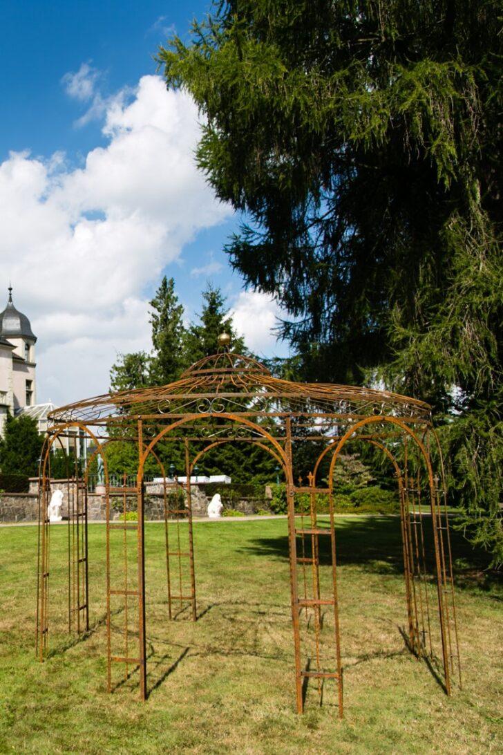 Medium Size of Pavillon Eisen Stabiler Gartenpavillon Rost Metall 350cm Garten Wohnzimmer Pavillon Eisen