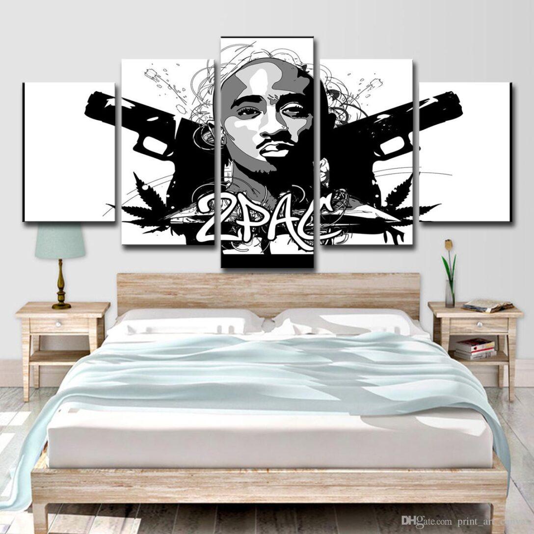 Large Size of Hd Gedruckt 5 Stck Leinwand Kunst Rap 2pac Hip Hop Lampe Wohnzimmer Fürs Vitrine Weiß Vorhänge Tischlampe Hängelampe Teppich Vorhang Liege Sessel Led Wohnzimmer Wohnzimmer Wandbilder