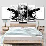 Hd Gedruckt 5 Stck Leinwand Kunst Rap 2pac Hip Hop Lampe Wohnzimmer Fürs Vitrine Weiß Vorhänge Tischlampe Hängelampe Teppich Vorhang Liege Sessel Led Wohnzimmer Wohnzimmer Wandbilder