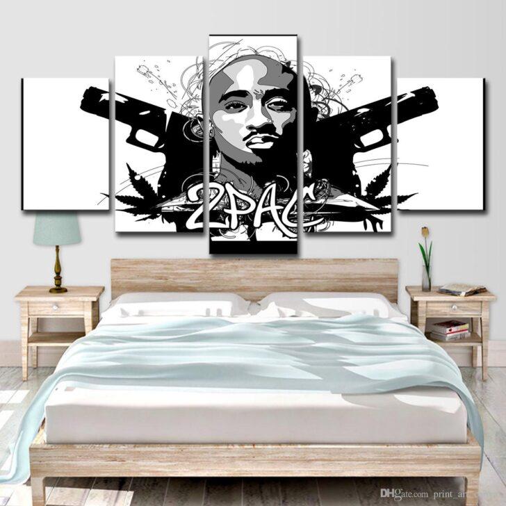 Medium Size of Hd Gedruckt 5 Stck Leinwand Kunst Rap 2pac Hip Hop Lampe Wohnzimmer Fürs Vitrine Weiß Vorhänge Tischlampe Hängelampe Teppich Vorhang Liege Sessel Led Wohnzimmer Wohnzimmer Wandbilder