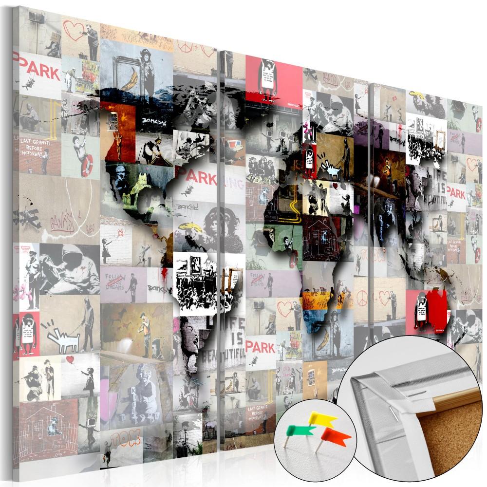 Full Size of Pinnwand Modern Worlds Map Cork Bilder Modernes Bett Einbauküche Mit Elektrogeräten Pendelleuchten Küche U Form Stehhilfe Sitzgruppe Kleine Einhebelmischer Wohnzimmer Pinnwand Modern Küche