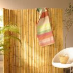 Paravent Bambus Balkon Garten Bett Wohnzimmer Paravent Bambus Balkon