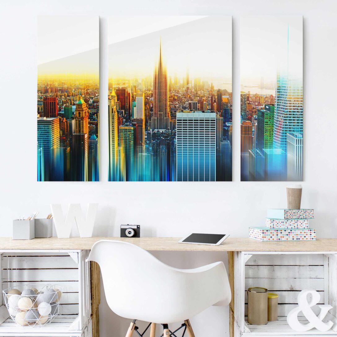 Large Size of Glasbild 120x50 Bilder 3 Teilig Abstrakt Glasbilder Bad Küche Wohnzimmer Glasbild 120x50