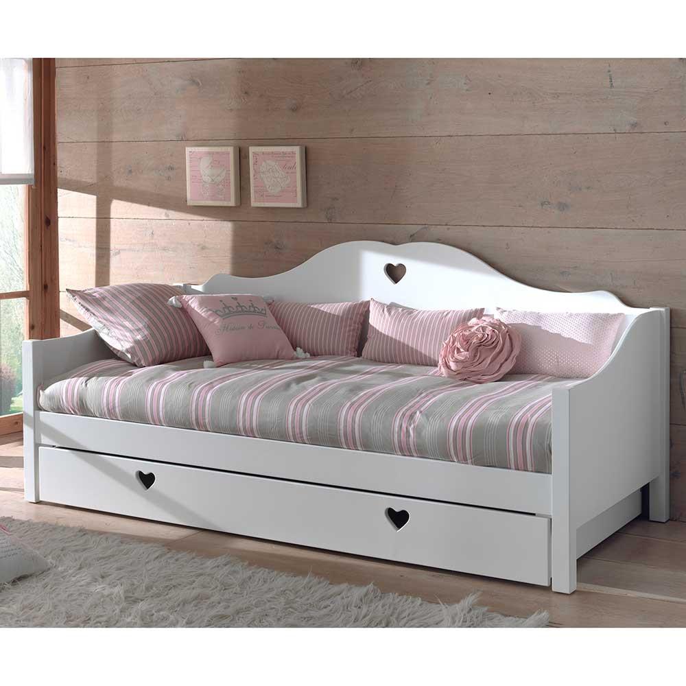Full Size of Mädchenbetten Mdchenbett Grandory In Wei Wohnende Wohnzimmer Mädchenbetten