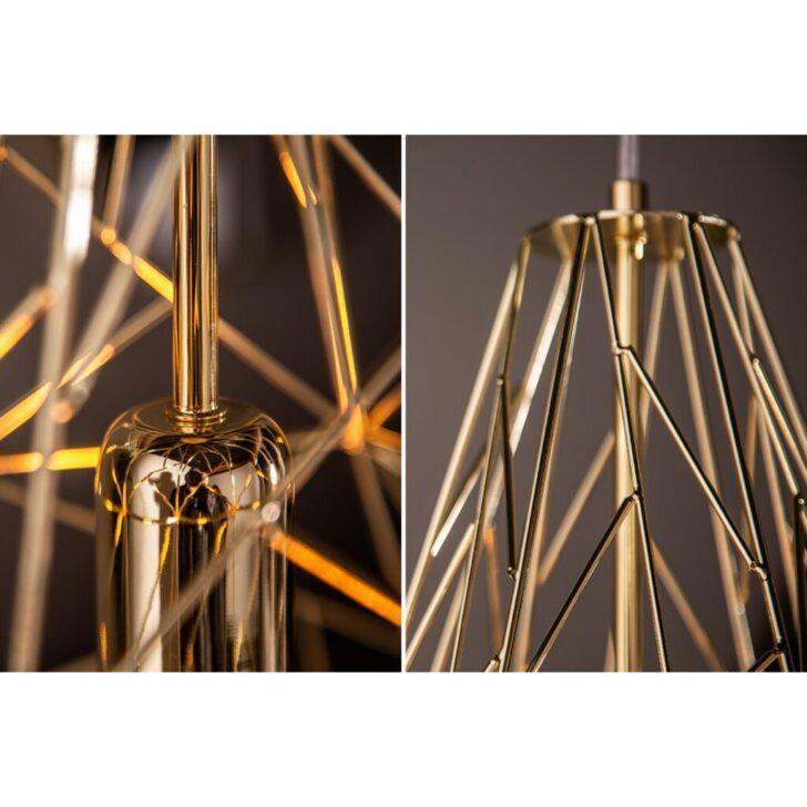 Medium Size of Hngeleuchte Cage Gold Industrial Look Warenversand24de Wohnzimmer Deckenlampe Küche Deckenlampen Für Modern Schlafzimmer Esstisch Bad Wohnzimmer Deckenlampe Industrial