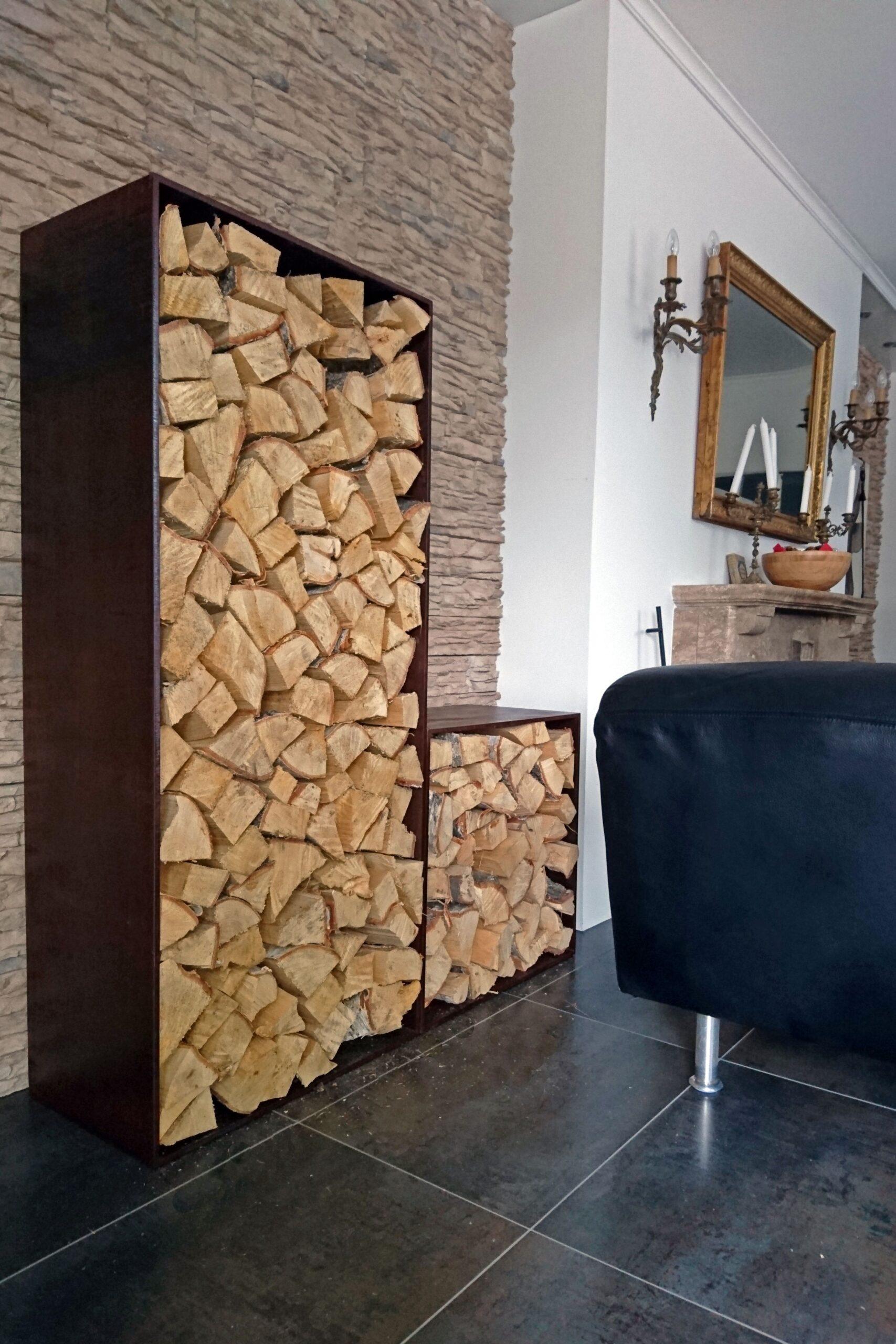 Full Size of Holzlege Cortenstahl Campo Holzlager Massiv Und Lackiert Fr Zuhause Wohnzimmer Holzlege Cortenstahl