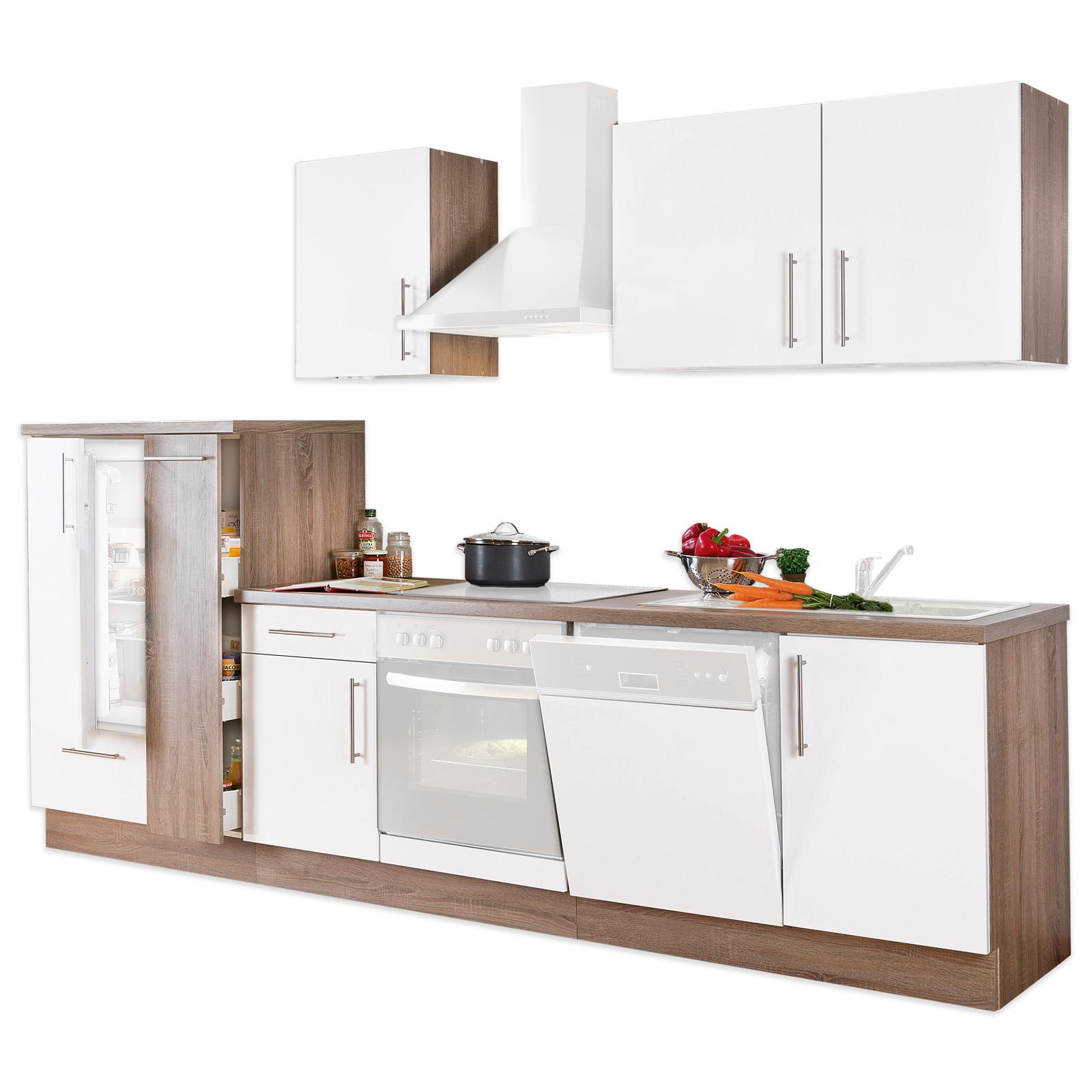 Full Size of Küchen Roller Kchenblock Wei Lacklaminat Matt Trffel 310 Cm Online Regal Regale Wohnzimmer Küchen Roller