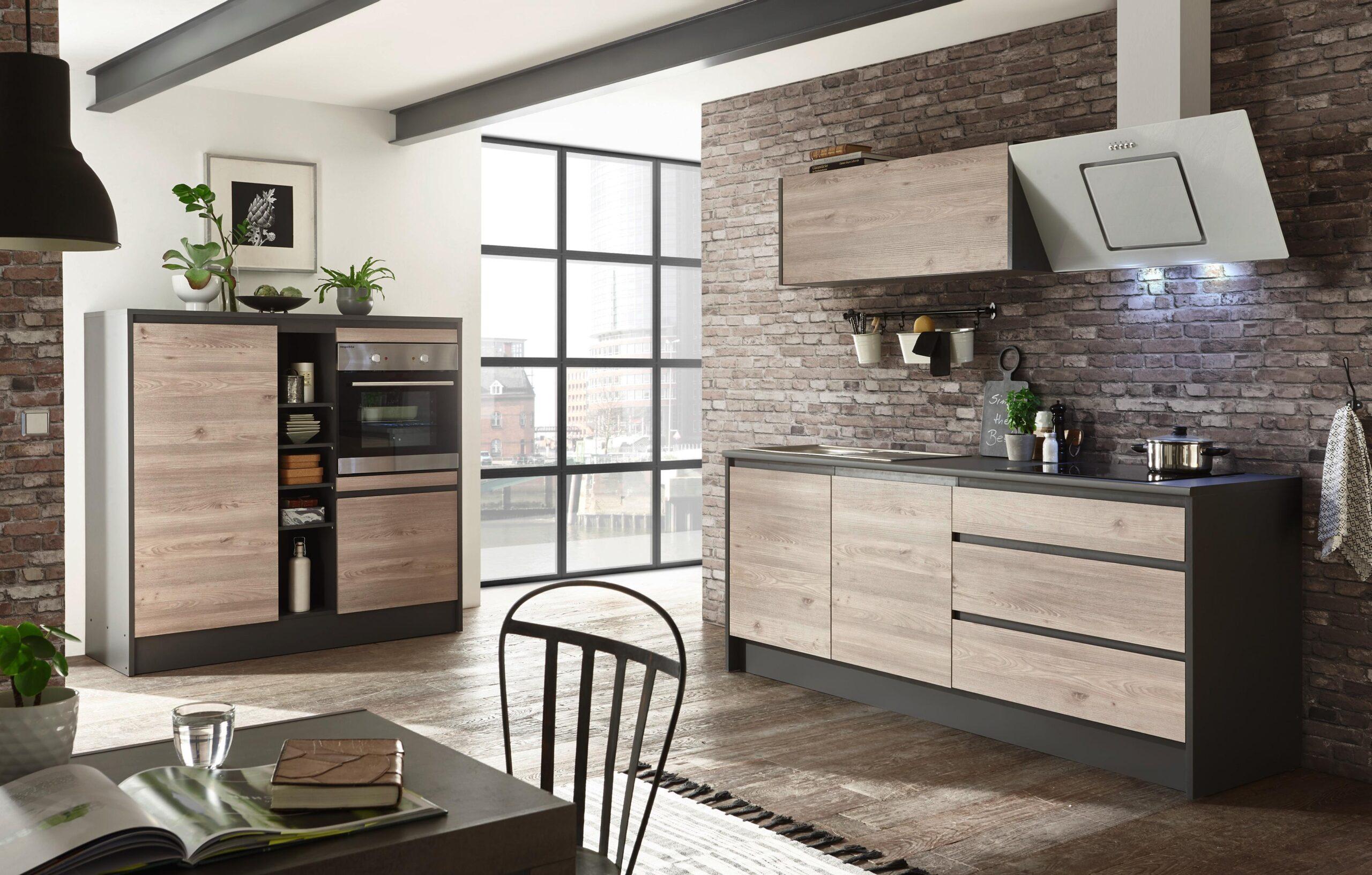 Full Size of Moderne Kchenzeile In Ribbeck Eiche Dekor Kaufen Küchen Regal Wohnzimmer Möbelix Küchen