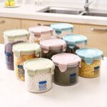 Küchen Aufbewahrungsbehälter Feuchtigkeitsfeste Transparente Plastik Versiegelte Dose Regal Küche Wohnzimmer Küchen Aufbewahrungsbehälter