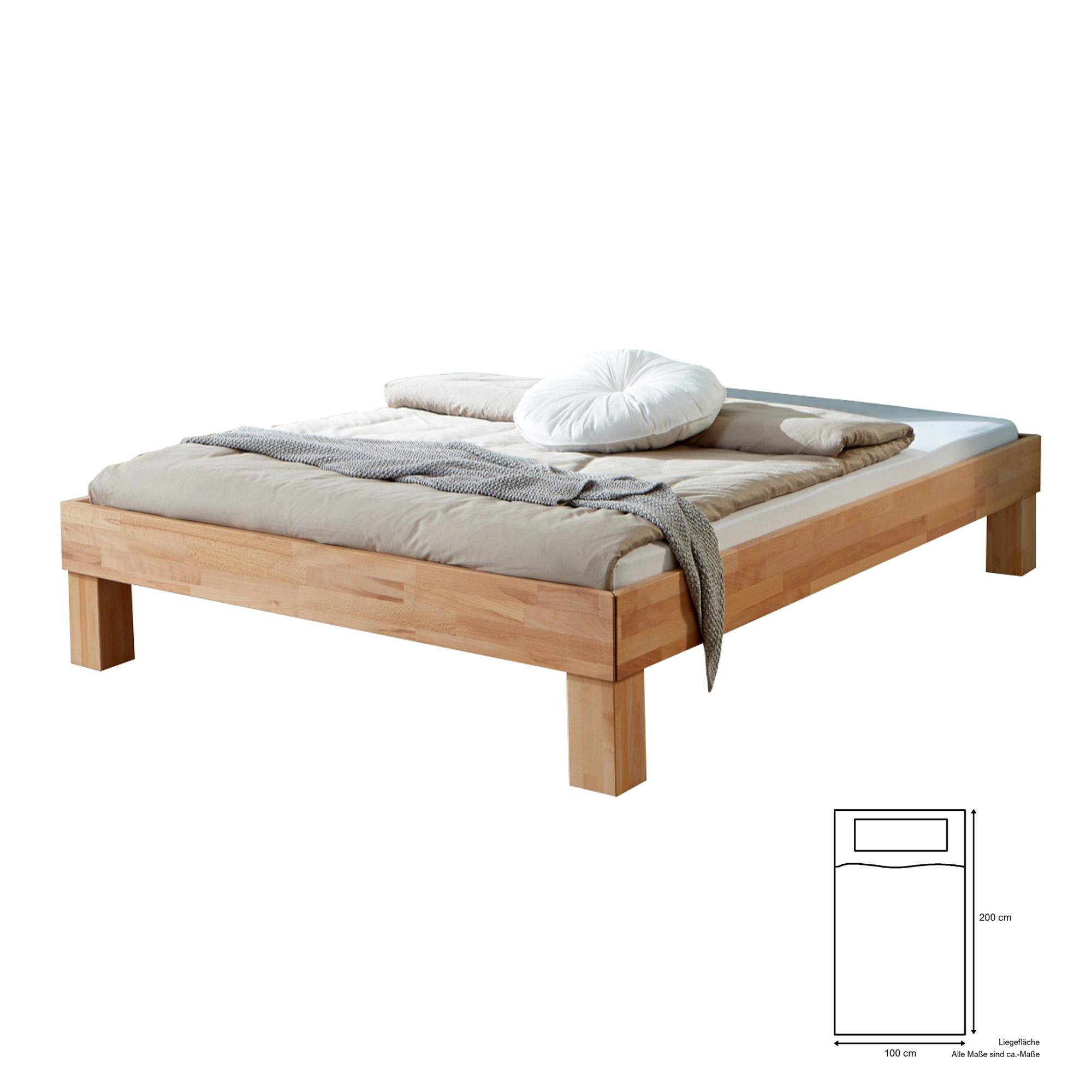 Full Size of Futonbett Manuela Liegeflche 100 200 Cm Massivholz Gelte Bett 100x200 Betten Weiß Wohnzimmer Futonbett 100x200