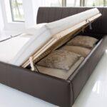 Klappbares Doppelbett Polsterbett Luanos 180x200 Braun Kunstleder Rost Klappbar Ausklappbares Bett Wohnzimmer Klappbares Doppelbett