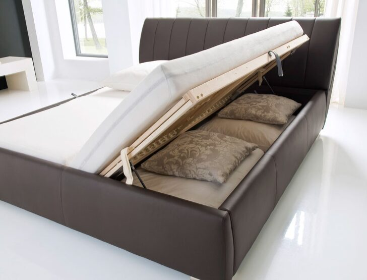 Medium Size of Klappbares Doppelbett Polsterbett Luanos 180x200 Braun Kunstleder Rost Klappbar Ausklappbares Bett Wohnzimmer Klappbares Doppelbett