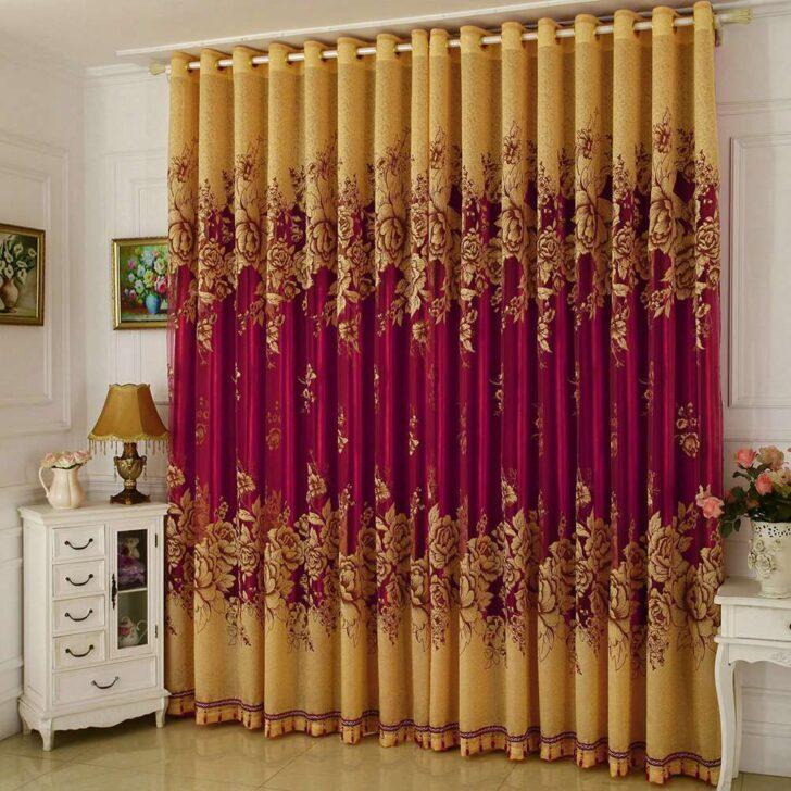Medium Size of Luxus Jacquard Gardine Gelb Pfingstrosen Im Wohnzimmer Deckenleuchte Decken Stehlampen Komplett Gardinen Für Die Küche Schrankwand Led Heizkörper Kommode Wohnzimmer Edle Gardinen Wohnzimmer