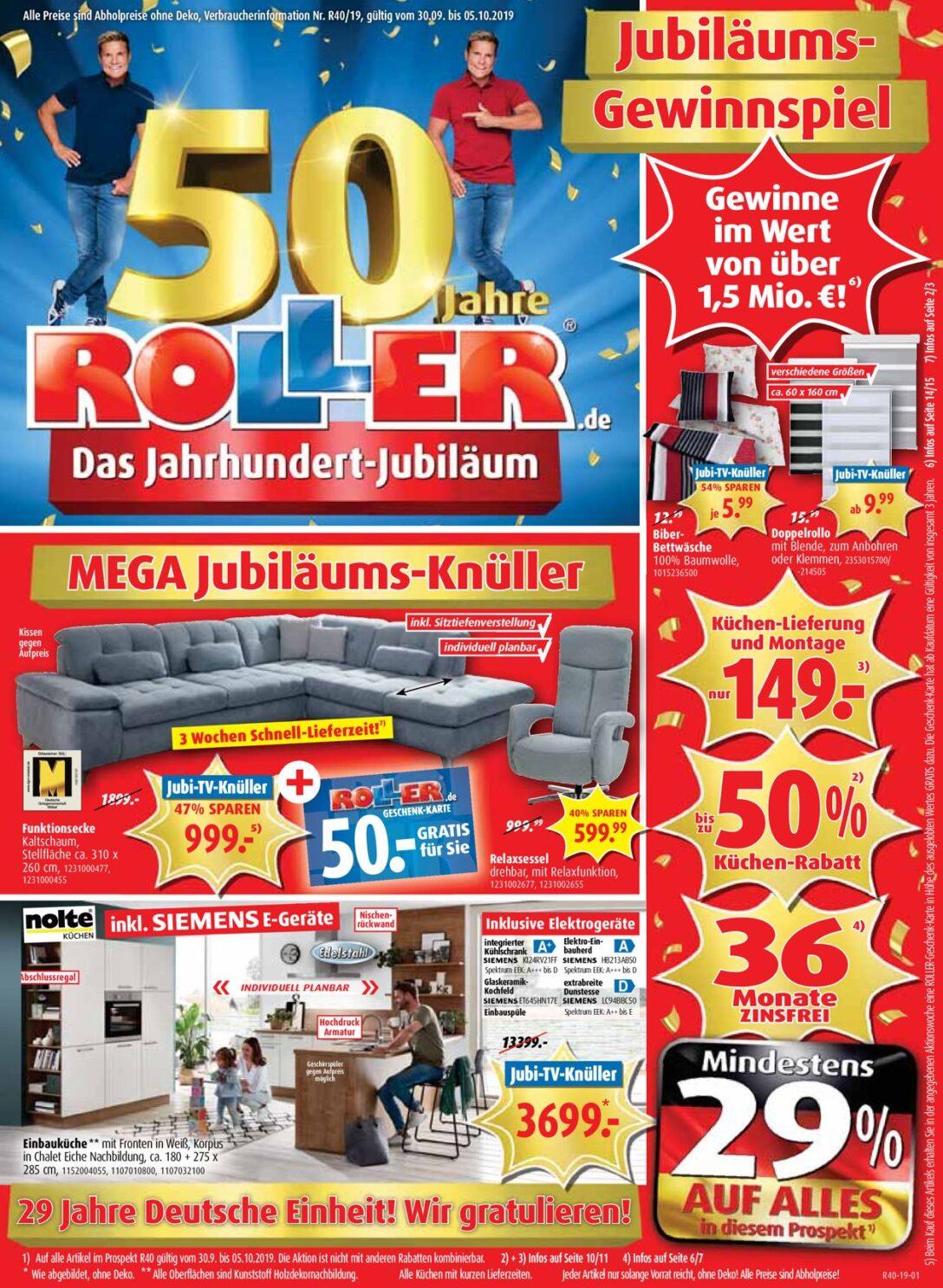 Large Size of Roller Aktueller Prospekt 3009 05102019 Jedewoche Rabattede Regale Küchen Regal Wohnzimmer Küchen Roller