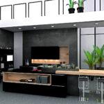Moderne Küche U Form Wohnzimmer Moderne Küche U Form Einbaukche Mittelinsel Lack Schwarz Softmatt Kuechen Bad Renovierung Gebrauchte Kaufen Bambus Bett Arbeitsplatte Tresen Immobilien