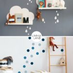Wandgestaltung Kinderzimmer Jungen Einrichten Babyzimmer Sofa Regal Regale Weiß Wohnzimmer Wandgestaltung Kinderzimmer Jungen