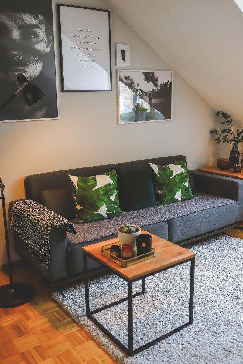 Full Size of Mein Neuer Wohnbereich In Grau Und Grn Interview Mit Home24 Home Affaire Sofa Wohnzimmer Teppiche Big Affair Bett Wohnzimmer Home 24 Teppiche