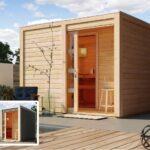 Gartensauna Bausatz Karibu Cuben Gratis Zubehrpaket Bis Zu 270 Wohnzimmer Gartensauna Bausatz
