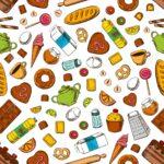 Tgliche Mahlzeit Nahtlose Hintergrund Tapete Mit Muster Von U Form Küche Ikea Kosten Sitzecke Modulküche Billig Kaufen Eiche Hell Wasserhahn Einbauküche Wohnzimmer Tapete Küche Kaffee