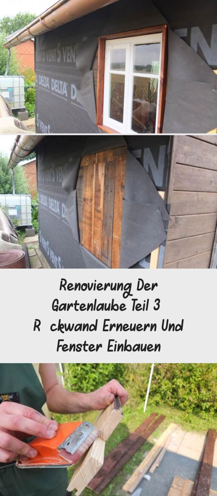 Medium Size of Renovierung Der Gartenlaube Teil 3 Rckwand Erneuern Und Fenster Kosten Bad Wohnzimmer Fensterfugen Erneuern