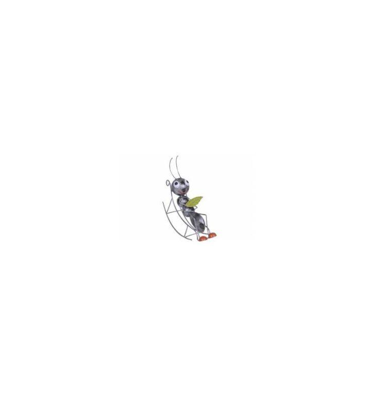 Medium Size of Metall Ameise Auf Schaukelstuhl 22x7x26 Cm Metallmichl Feuerstellen Im Garten Bewässerungssystem Ecksofa Pergola Gartenüberdachung Schwimmingpool Für Den Wohnzimmer Garten Schaukelstuhl Metall