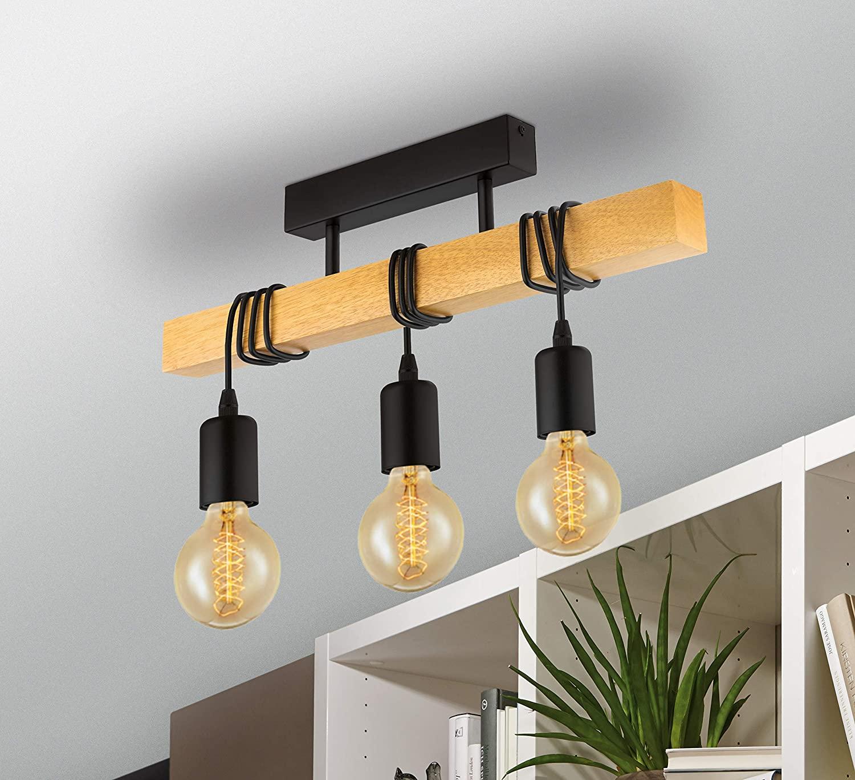 Full Size of Deckenlampe Industrial Eglo Townshend Bad Esstisch Schlafzimmer Küche Wohnzimmer Deckenlampen Für Modern Wohnzimmer Deckenlampe Industrial