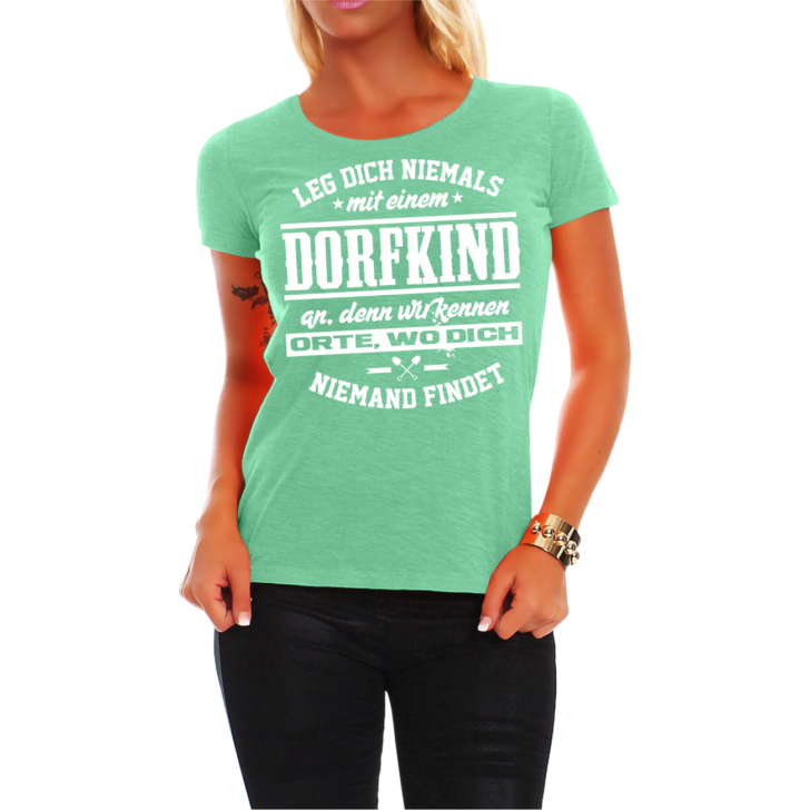 Medium Size of Frauen Damen T Shirt Dorfkind Spruch Fun Spa Lustig Witzig Regal Industrie Industrial Esstisch Hotels In Bad Reichenhall Behindertengerechte Küche Wohnzimmer Lustige T Shirt Sprüche