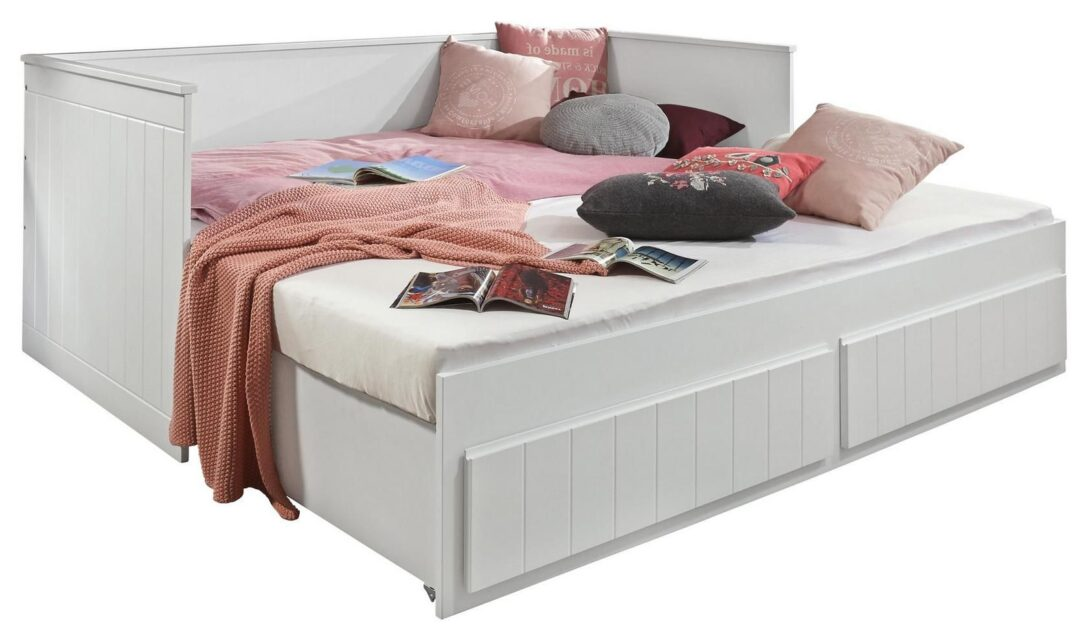 Large Size of Ausziehbares Doppelbett Ikea Ausziehbare Doppelbettcouch Stauraumbett Timmi Wei 90 180x200 Online Kaufen Mbeliin Bett Wohnzimmer Ausziehbares Doppelbett