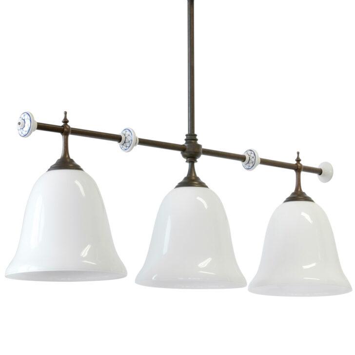 Landhaus Lampen Tischbeleuchtung Balkenleuchte Mit Drei Glasschirmen Fenster Küche Landhausstil Bad Led Wohnzimmer Esstisch Deckenlampen Modern Boxspring Bett Wohnzimmer Landhaus Lampen