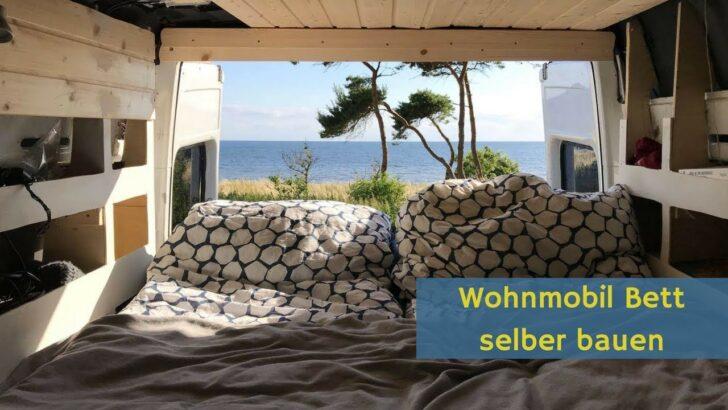 Medium Size of Wohnmobil Bett Bauen Im Mercedes Sprinter Campervan Youtube Mit Ausziehbett Wohnzimmer Ausziehbett Camper